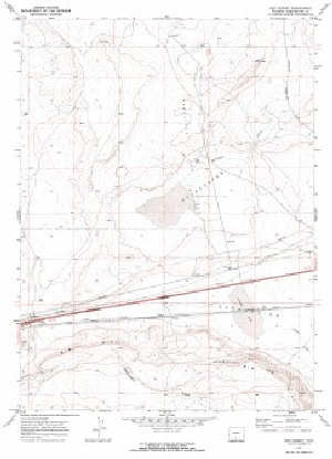 7 5 Topo Map Of The Red Desert Wy Quadrangle Wsgs Product Sales
