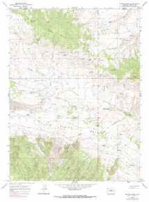 7.5' Topo Map of the Beaver Basin, CO Quadrangle