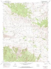 7.5' Topo Map of the Beaver Basin, CO Quadrangle
