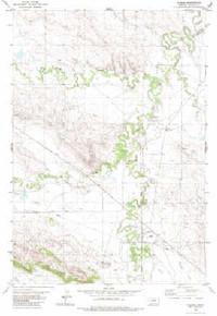 7.5' Topo Map of the Alzada, MT Quadrangle