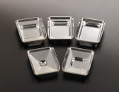 Stainless Steel Embedding Base Molds 24x24x5mm, 12 pcs/pack