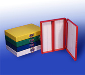 100-Place Slide Storage Box, blue, each