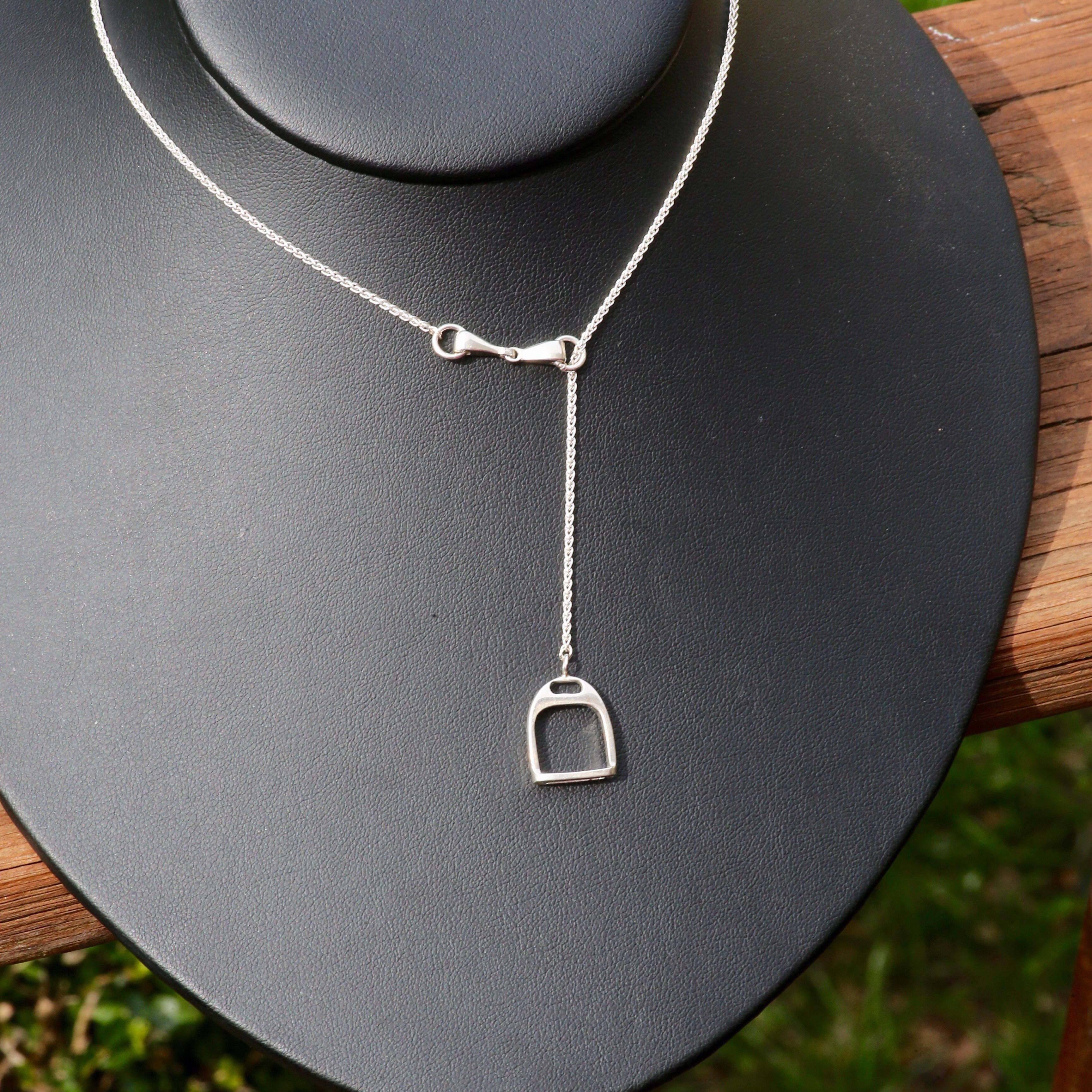 Silver Equestrian Necklace