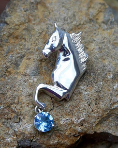 Park horse with big trot and swiss blue dangle
