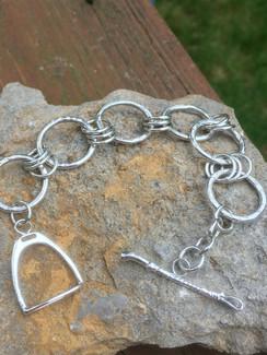 Silver hammered sterling bracelat