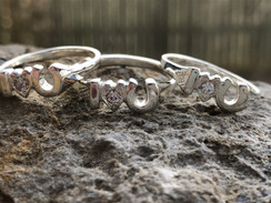 Sterling silver stacker horse rings