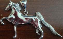 5 gaited horse sterling silver pendant