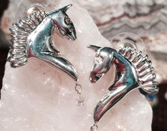 Fantasy horse earrings with posts