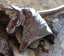 Morgan horse pendant in sterling silver