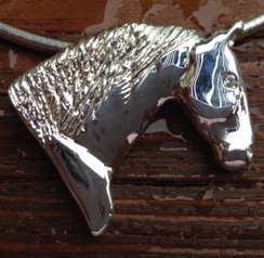 Noble Draft horse pendant in sterling silver