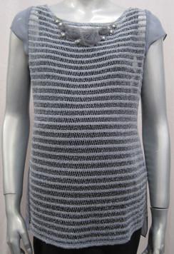 Style # RC812 Crochet stripe vest INTERNET SPECIAL