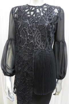 Style # 833 velvet embroidered top