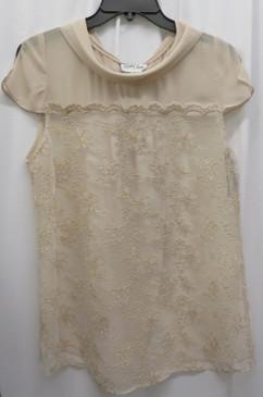Style # 245 Beige Dressy top