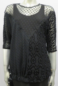 Style # F254 Mesh and Lace top