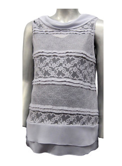 Style #541 - Silver-Grey Lace Vest (SOLD OUT)