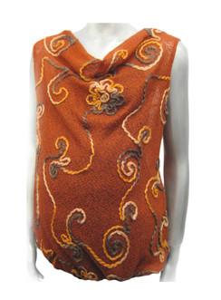 Style #F621 - Rust Swirl Sweater