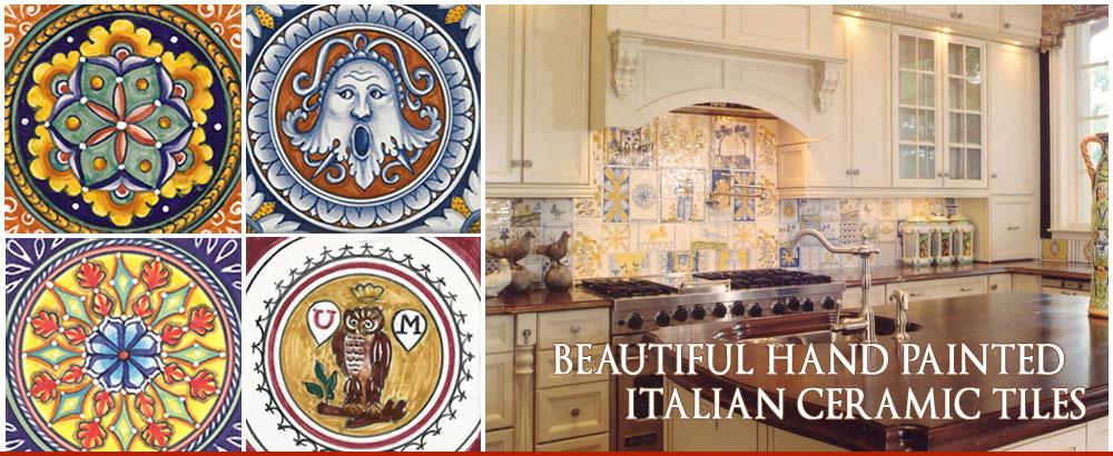 Italian Deruta Ceramic Tiles
