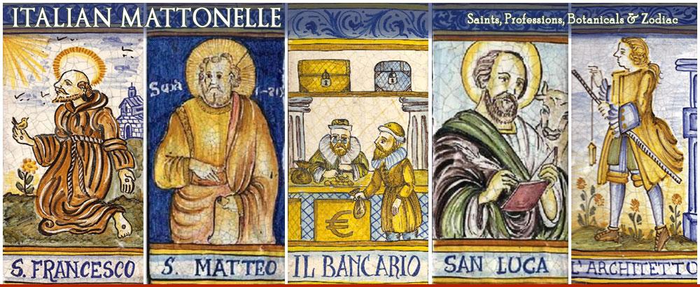 Italian Ceramic Saint Tiles