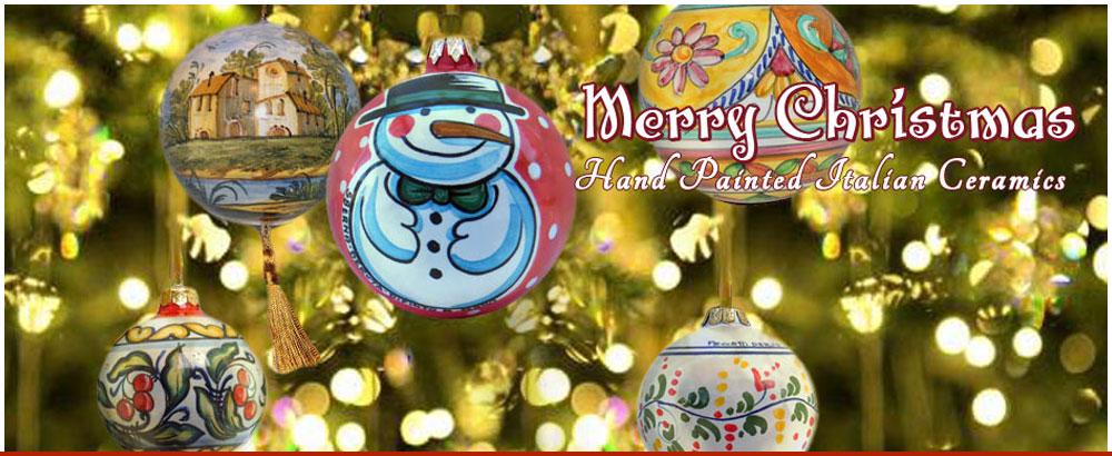 Italian Ceramic Christmas Ornaments