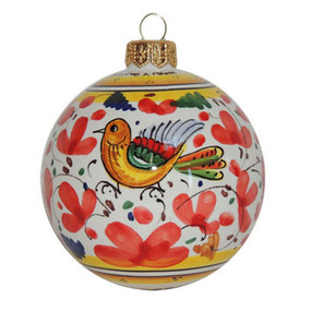 Arabesco Red - Italian Christmas Ornament