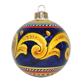 Geometrico Blue - Italian Christmas Ornament