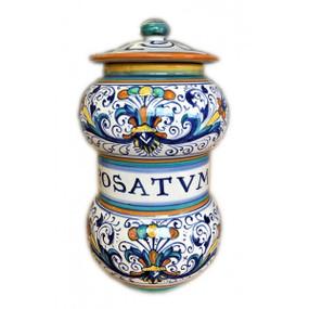 Rosatum - Apothecary Jar - Sberna - Italian Ceramics