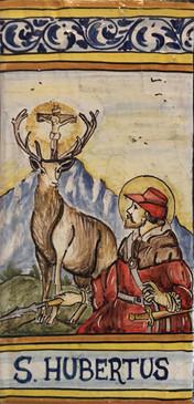 St. Hubert Tile - St. Hubertus (Patron of Hunters)