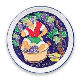Amalfi Autumn Season Wall Plate - Italian Ceramics