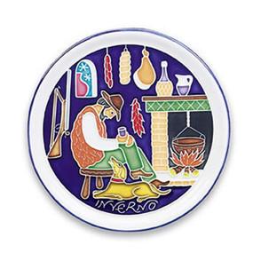 Amalfi Winter Season Wall Plate - Italian Ceramics