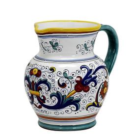 Ricco Deruta Traditional Pitcher - Italian Ceramics