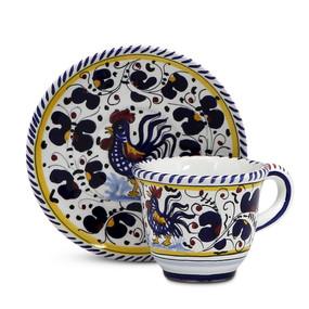 Espresso Cup & Saucer - Orvieto Blue  - Italian Ceramics