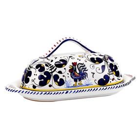 Butter Dish - Orvieto Blue - Italian Ceramics