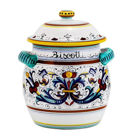 Biscotti Jar - Ricco Traditional - Italian Ceramics