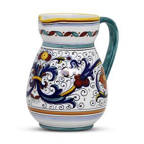 Ricco Deruta Pitcher - Italian Ceramics