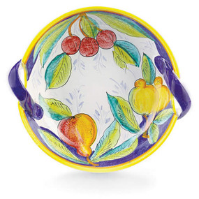 Frutta Two Handles Bowl - Italian Ceramics