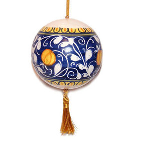 Ornato Blu Cinquecentesco - Italian Christmas Ornament