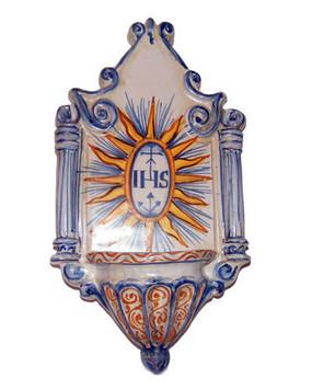 Italian Ceramic Holy Water Font 2
