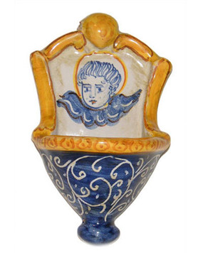 Italian Ceramic Holy Water Font 5