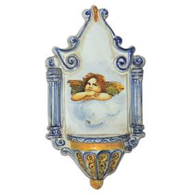 Italian Ceramic Holy Water Font 7