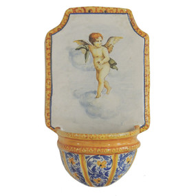 Italian Ceramic Holy Water Font 8