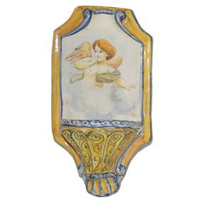 Italian Ceramic Holy Water Font 10