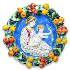 DELLA ROBBIA WALL PLATE - Italian Ceramics