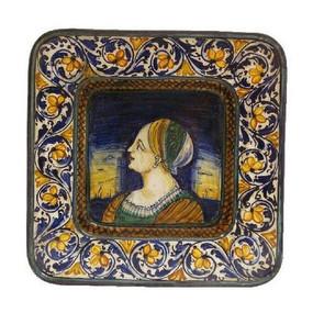 Piatto Quadrato Con Cavetto - Orsini Colonna - Italian Ceramics