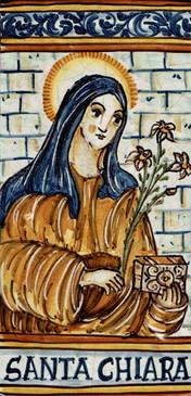 St. Clare Tile - Santa Chiara Italian Ceramic Tile. Hand painted Italian tile from Castelli, Italy.