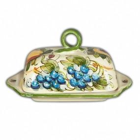 Butter Dish - Toscana Bees - Italian Ceramics