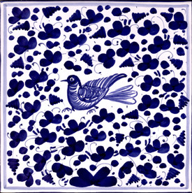 Arabesco Blu Ceramic Tile