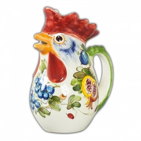 Toscana Bees Rooster Pitcher Italian Ceramics