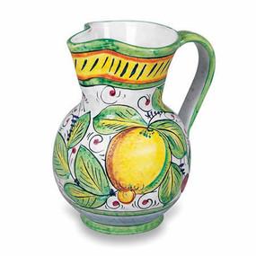 Frutta Mista Pitcher Italian Ceramics