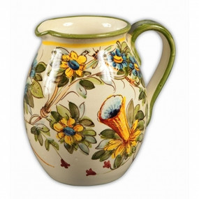 Toscana Fiori Wine Pitcher - Italian Ceramics