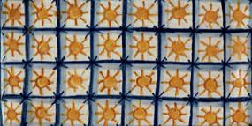 Checkered Suns - Rectangle - San Donato Tile